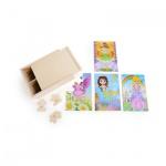 Puzzle-Box 4 in 1 - Mädchen im Kostüm