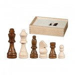 Schachfiguren - Otto I - KH 100 mm - Birke