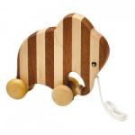 Streifentier - Holzfigur - Elefant - 20 cm