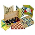 Spielesammlung - Holz - enthält 10 Spielemöglichkeiten