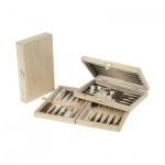 Backgammon - Buche - bedruckt - 19x12 cm
