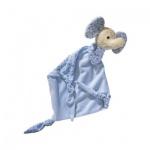 Schmusetuch Elefant - blau - 60 x 50 cm