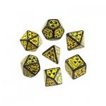 Nuke Revised Dice Black and Yellow - 7 Würfel