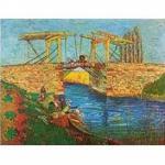 120 Teile Puzzle Dose - Van Gogh - Brücke von Langlois