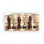Schachfiguren - geschnitzt - Ahorn - Königshöhe 105mm