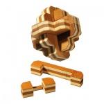 Blüten-Puzzle - Bambus - 12 Puzzleteile - Denkspiel - Knobelspiel - Geduldspiel