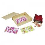 Bingo-Lotto Set in Holzkiste - 90 System