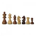 Schachfiguren - Teak und Buchsbaum - Königshöhe 112 mm