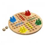 Würfelspiel - groß - Eschenholz - 16 Spielsteine