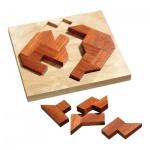 Rüben Puzzle - 12 Puzzleteile - Denkspiel - Knobelspiel - Geduldspiel