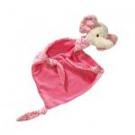 Schmusetuch Elefant - rosa - 60 x 50 cm
