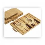 Backgammon - Koffer - Buche - Intarsie - 38x25cm