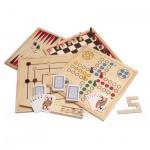 Spielesammlung - Holz - inkl. 10 Spiele-Klassiker