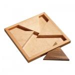 Jam Puzzle Triangular - 4 Puzzleteile - Denkspiel - Knobelspiel - Geduldspiel