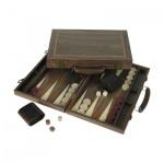 Backgammon - Koffer - Amerikanischer Nussbaum - 38x25cm
