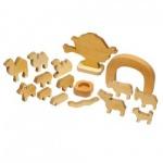 Holzfiguren Biblodram - Tiere - 16 Teile - versch. Größen