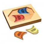 Becher Puzzle - 4 Spielsteine - Denkspiel - Knobelspiel - Geduldspiel