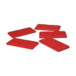 Spielsteine - rechteckig - rot