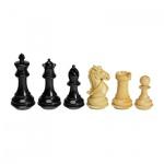 Schachfiguren - Ebenholz und Buchsbaum - Königshöhe 102mm