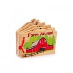 Babybuch aus Holz Farm