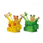Stiftebehälter - Katze und Frosch