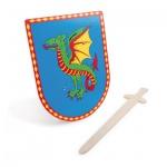 Schild und Schwert Drache