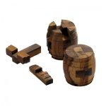 Fass des Diogenes - 12 Puzzleteile - Denkspiel - Knobelspiel - Geduldspiel