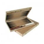 Backgammon - Buche - bedruckt - 33x24 cm