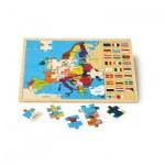 Rahmenpuzzle - Europa mit Fahnen