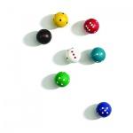 Rundwürfel - verschiedene Farben - 100 Stück