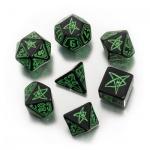 Call of Cthulhu Würfel-Set - 7 Stück - schwarz und grün