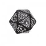 Kartenspiel - Level Counter - 1 Stück - W20 - schwarz und weiss
