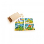 Puzzle-Box 4 in 1 - Dinosaurier