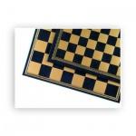 Schachbrett - Salpaleder - blau und gold - Breite 33 cm - Feldgröße 35 mm