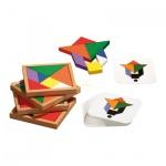 Speed-Tangram für 2-4 Personen - Puzzle - Denkspiel - Knobelspiel - Geduldspiel