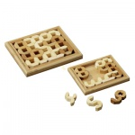 Tricky Numbers - Bambus - 10 Puzzleteile - Denkspiel - Knobelspiel