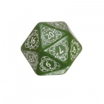 Kartenspiel - Level Counter - 1 Stück - W20 - grün und weiss