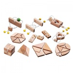 Minipuzzle-Sortiment - 10 Puzzle - Denkspiel - Knobelspiel - Geduldspiel
