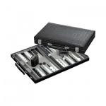 Backgammon - medium - Kunstleder - Koffer