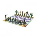 Schachspiel - Lucky Luke - Königshöhe 90-100 mm