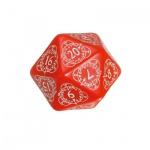Kartenspiel - Level Counter - 1 Stück - W20 - rot und weiss