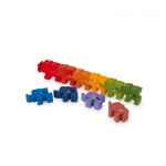 Steckpuzzle Zahlen Elefanten