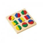 Geometrisches Formenspiel - Holzpuzzle - 16 x 16 cm