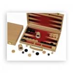Backgammon - Buche - natur - Intarsie - 35x24 cm