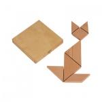 Tangram - Holz - in Kassette - 13 x 13 cm