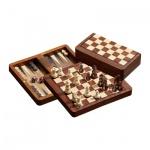 Schach-Backgammon-Dame-Set - magnetisch - Feld 18 mm