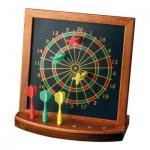 Mini Darts Tischspiel - Hevea-Holz - mit 6 magnetischen Pfeilen
