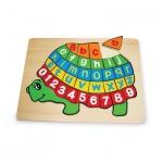 Holzpuzzle ABC Schildkröte