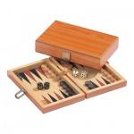 Backgammon - Reisespiel - Kassette - Zefs - Holz - mini