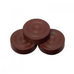 Spielsteine - rund - Holz - braun - 25 x 7 mm